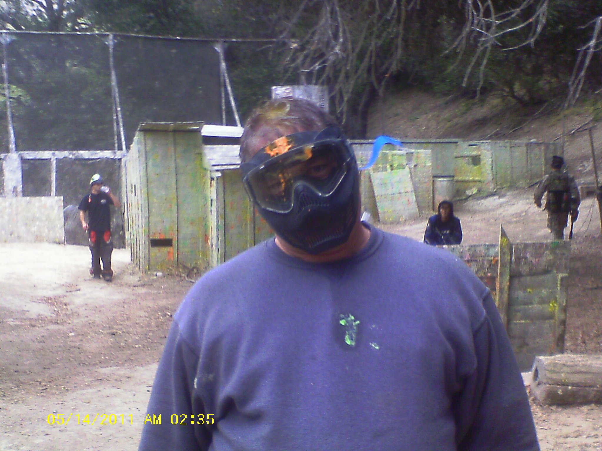 paintballed